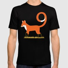9 Tailed Fox Mens Fitted Tee Black MEDIUM