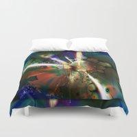 big bang Duvet Covers featuring The Big Bang by Robin Curtiss