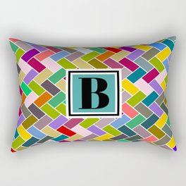 B Monogram Rectangular Pillow
