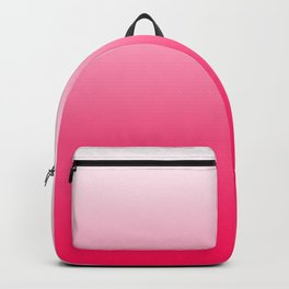 White and Warm Pink Gradient 045 Backpack