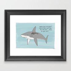 Hey Shark  Framed Art Print