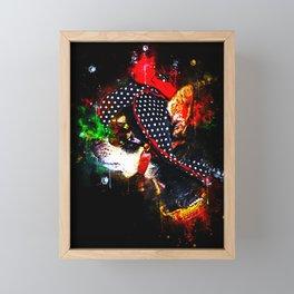 classy chihuahua dog lady splatter watercolor Framed Mini Art Print