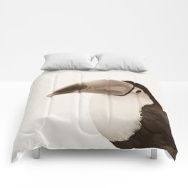 Toucan Do It! - sepia Comforters