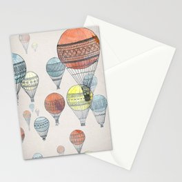 Voyages Hot Air Balloons Stationery Cards