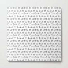 Zeppelin Pattern Metal Print