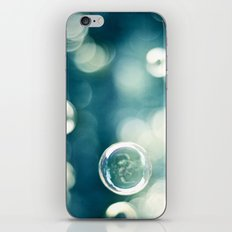 Bubble Photography, Teal Bathroom Art, Turquoise Aqua Laundry Photo iPhone & iPod Skin