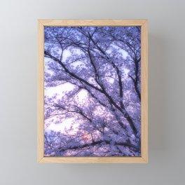 Periwinkle Lavender Flower Tree Framed Mini Art Print
