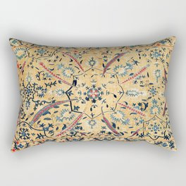 Kermina  Suzani  Antique Uzbekistan Embroidery Print Rectangular Pillow