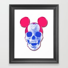 Mickey Mouse Skullface (aka Norman Bates' Dad) Framed Art Print