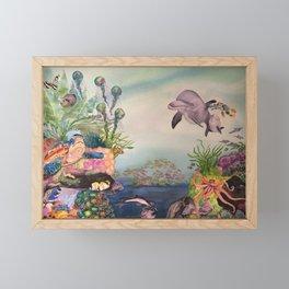 Journey Under the Sea by Maureen Donovan Framed Mini Art Print