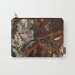 Twisted patterns of brown, red and beige stone Carry-All Pouch