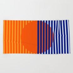 Orange Split Sun Beach Towel