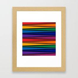 Spectrum Game Board Framed Art Print