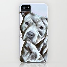Pit Bull lover, a portrait of a beautiful pit bull puppy iPhone Case