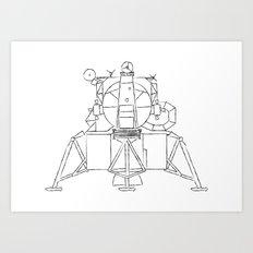 Lunar module Art Print