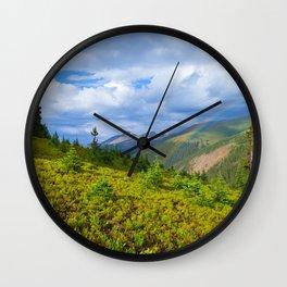 High Country Rainbow Wall Clock