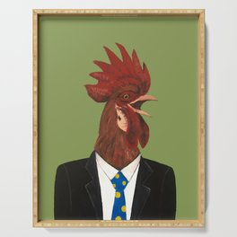 Mr Cock Serving Tray