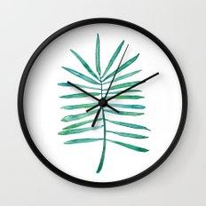 Long Palm frond Wall Clock