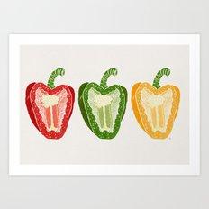 Mixed Peppers Art Print