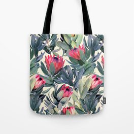 Painted Protea Pattern Tote Bag