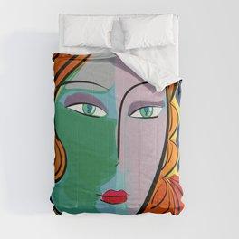 Une étoile dans la nuit French Pop Girl Art Decoration Comforters