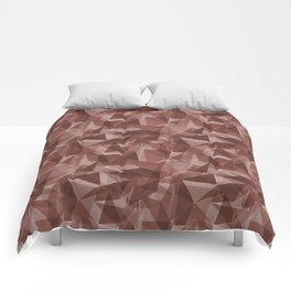 Abstract Geometrical Triangle Patterns 3 Dunn Edwards Spice of Life DET439 Comforters
