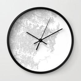 Sydney, Australia Minimalist Map Wall Clock