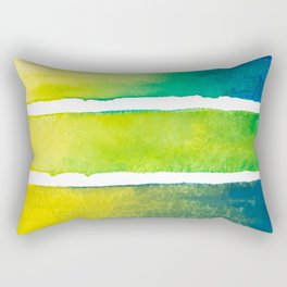 Tropical Earth Abstract Watercolor Rectangular Pillow