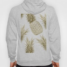 Gold Pineapple Bling Hoody