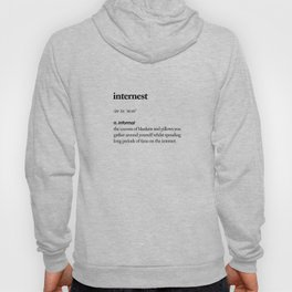 Internest black and white contemporary minimalism typography design home wall decor bedroom Hoody