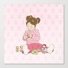 Matryoshka Girl Canvas Print