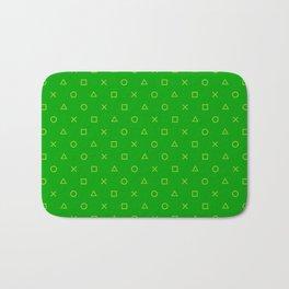 Green Gamer Pattern Bath Mat