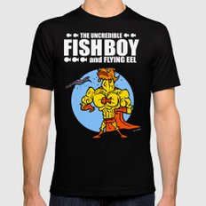 The Uncredible Fish Boy and Flying Eel! Mens Fitted Tee MEDIUM Black