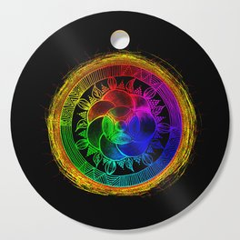Chakra Blossom Mandala Cutting Board