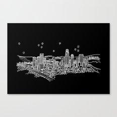 Los Angeles, California City Skyline Canvas Print