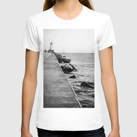michigan T-shirts featuring Michigan Lighthouse by KimberosePhotography