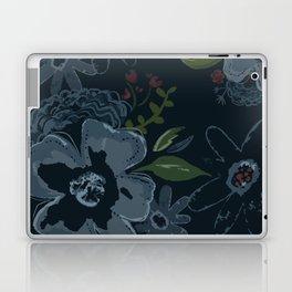 Moody Blues Floral Pattern Laptop & iPad Skin