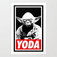 Obey Yoda (yoda text version) - Star Wars Art Print