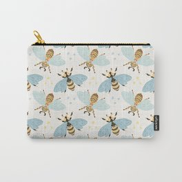 Cute Honey Bee Pattern - Save The Bees Carry-All Pouch