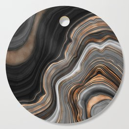 Elegant black marble with gold and copper veins Cutting Board