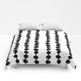 Linocut black and white dots pattern minimalist home decor nursery trendy dotted pattern Comforters
