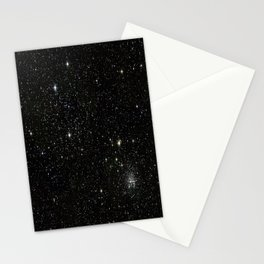 Universe Space Stars Planets Galaxy Black and White Stationery Cards