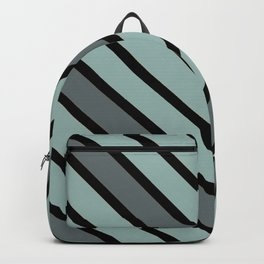 Chevron Shades of Gray & Black Backpack