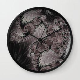Folding Feathers - Fractal Art  Wall Clock