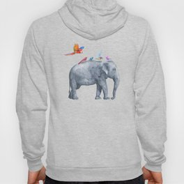 All Aboard The Exotic Elephant Taxi Service Hoody