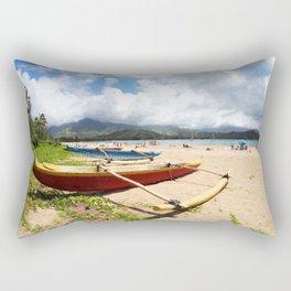 outrigger canoe Rectangular Pillow