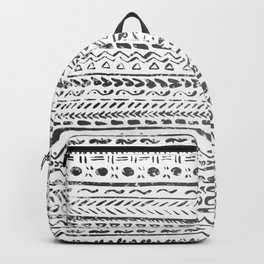 Black and White Tribal Pattern Backpack