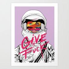 Give a Fuck Art Print