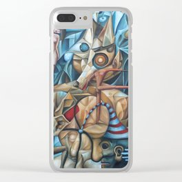 The Sea In The Fish Clear iPhone Case