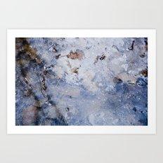 frozen lakes II Art Print